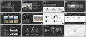 Minimal presentation templates. Technology design on black background. Futuristic technology circle element. Brochure cover vector design. Presentation slides for flyer, brochure, report, advertising