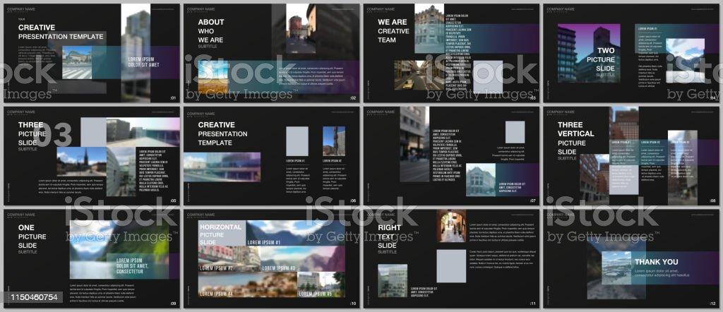 Minimal presentations design, portfolio vector templates with...