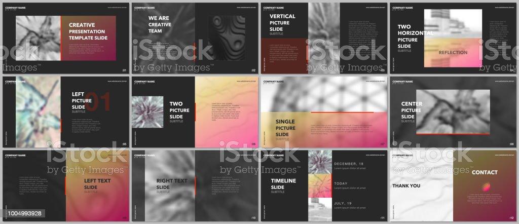 minimal presentations design portfolio vector templates with