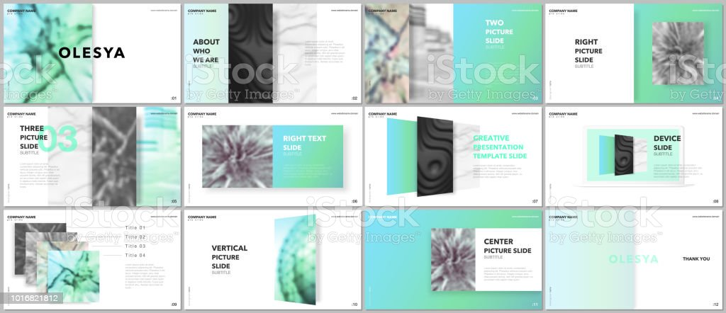 En Az Sunumlar Tasarım Portföy Vektör şablonları öğeleri üzerinde