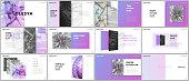 Minimal presentations design, portfolio vector templates with elements on white background. Multipurpose template for presentation slide, flyer leaflet, brochure cover, report, marketing, advertising
