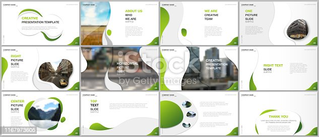 Minimal presentations design, portfolio vector templates with fluid colorful trendy gradients geometric shapes. Multipurpose template for presentation slide, flyer leaflet, brochure cover, report