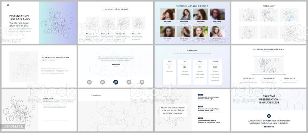 Minimal Presentations Portfolio Templates Blue Color