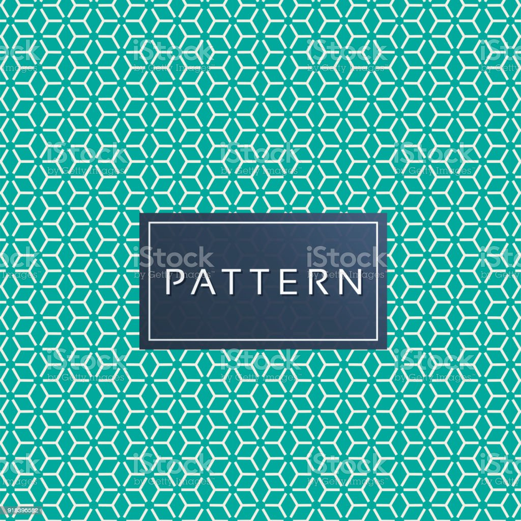 Minimal Rhombuse Pattern Green Background Vector Image vector art illustration