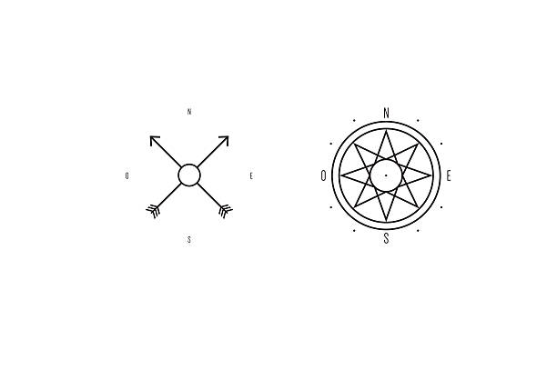 Royalty Free Simple Compass Tattoo Clip Art Vector Images