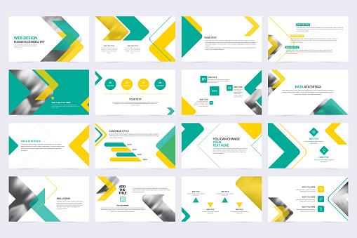 Minimal slide presentation template