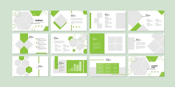 Minimal slides presentation background template. healthcare presentation template