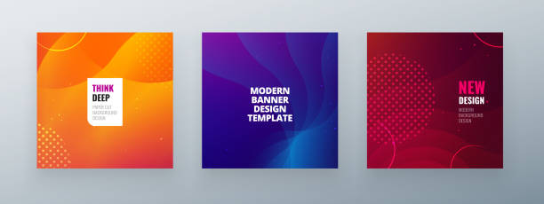 Minimal square banner design. Colorful halftone gradients.background modern template design for web. Cool gradients. Future geometric patterns. Minimal squaree banner design. Colorful halftone gradients.background modern template design for web. Cool gradients. Future geometric patterns blue drawings stock illustrations