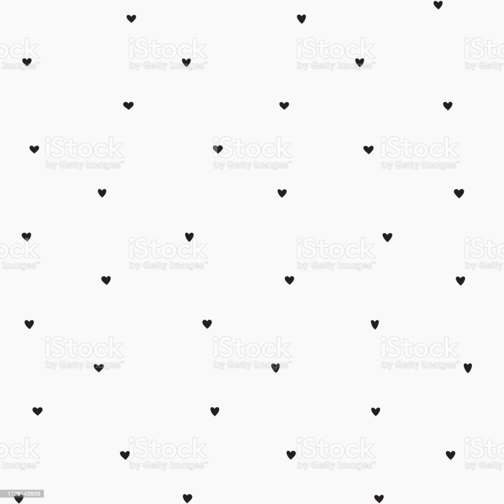最小限のスタイルのユニークな紙吹雪ブラック ハート シームレス