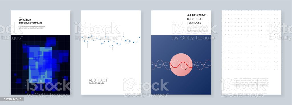 minimal trendy brochure templates with abstract colorful