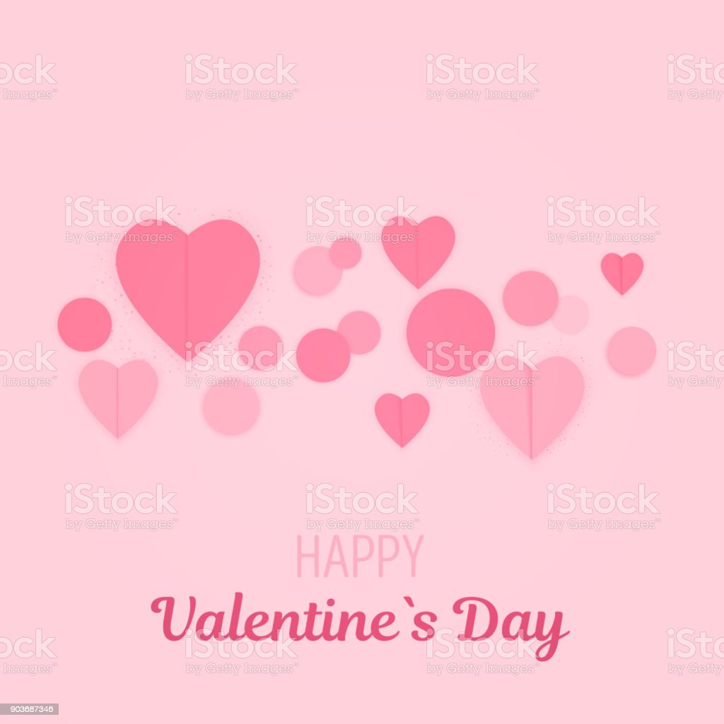 Minimale Valentinetageskarte Geschenkkarte In Rosa Farben ...