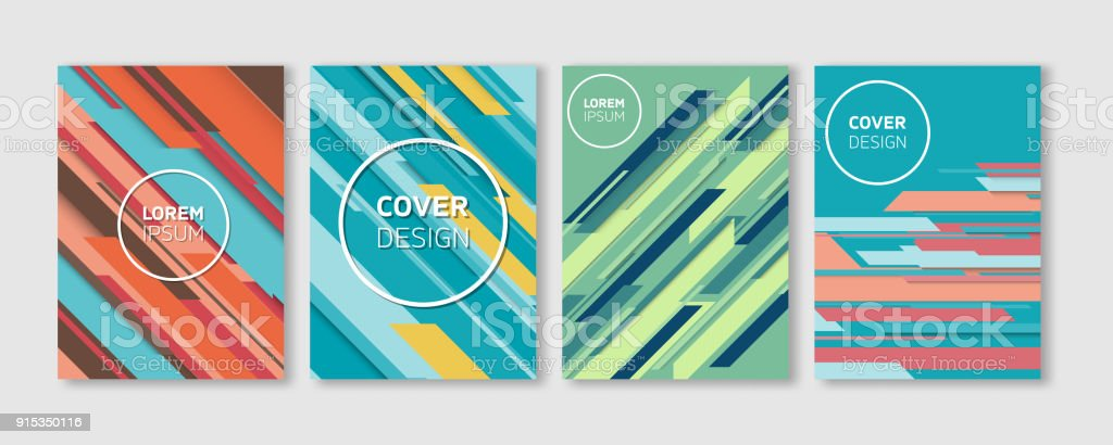 minimal vector covers design cool colorful vibrant diagonal stripes