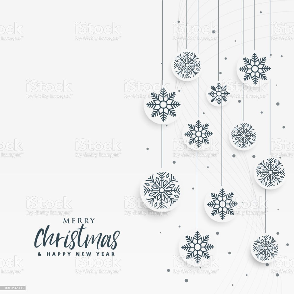 minimal white christmas background with snowflakes decoration royalty free minimal white christmas background with snowflakes
