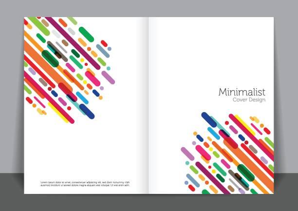 minimal1 Minimalist cover design book patterns stock illustrations