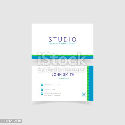 istock minimalism and clean business card template 1294210716