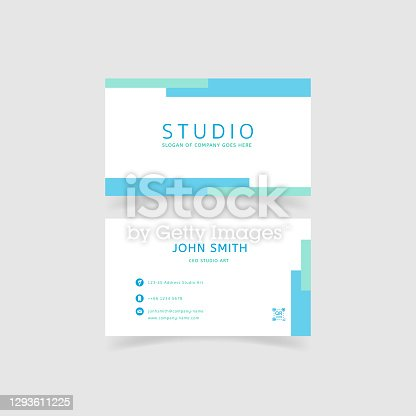 istock minimalism and clean creative business card template 1293611225