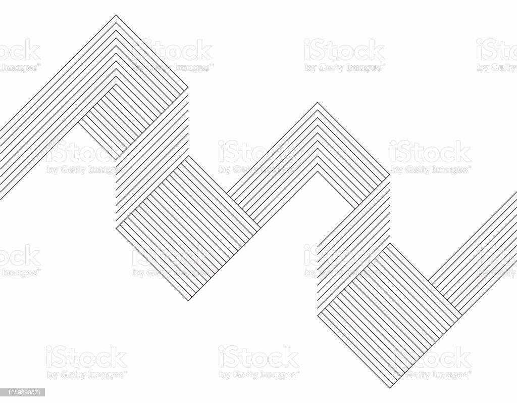 Minimalism geometriska linje mönster bakgrund - Royaltyfri Abstrakt vektorgrafik