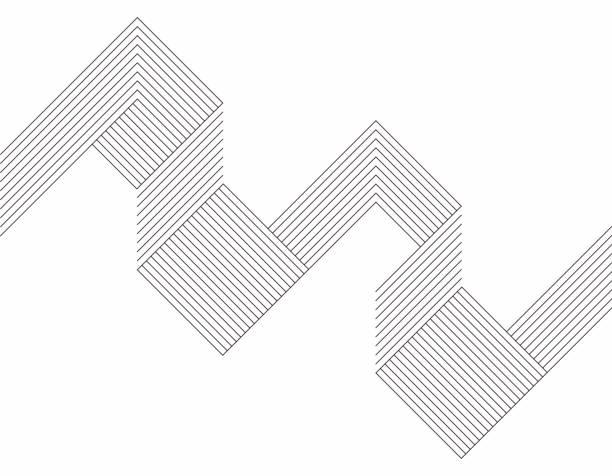 minimalizm geometryczny wzór tła linii - lineart stock illustrations