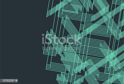 istock Minimalism geometric line pattern 1270223119