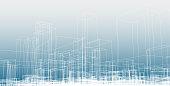 minimalism line city structure blueprint background