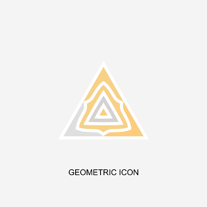 Minimalism triangle icon