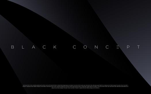 Minimalist black premium abstract background with luxury dark geometric elements.