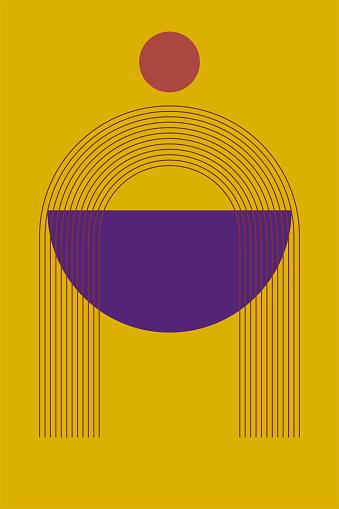 Minimalist Boho Poster or T Shirt Print Design