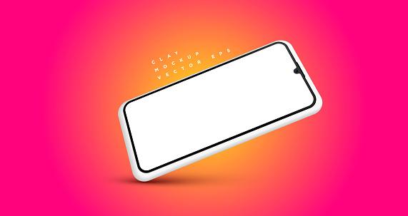 Minimalist clean modern clay mockup smartphones