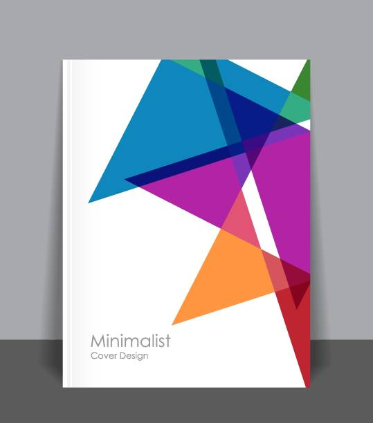 minimalist cover design - annual reports templates stock illustrations