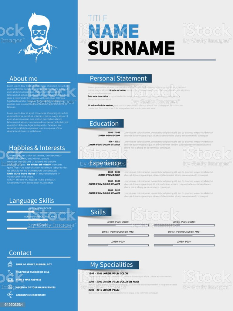Minimalist cv resume template with simple design minimalist cv resume template with simple design yelopaper Gallery