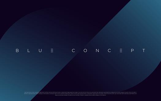 Minimalist deep blue premium abstract background with luxury geometric dark shapes.
