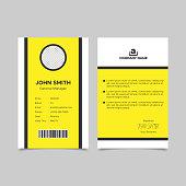 Minimalist employee id card template design. Vector illustration EPS 10