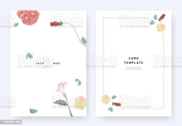 Minimalist floral wedding invitation card template design euphorbia vector id1092461496?b=1&k=6&m=1092461496&s=612x612&h=jigflfrjhhd1wct6sc7inci2rnal0 tep pbrsdz5v8=