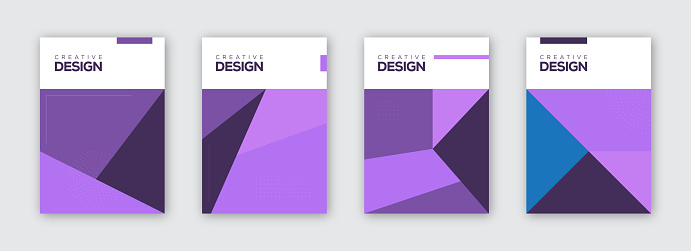 Minimalist Geometric Covers Collection. Abstract Shapes Concept. Vector Design