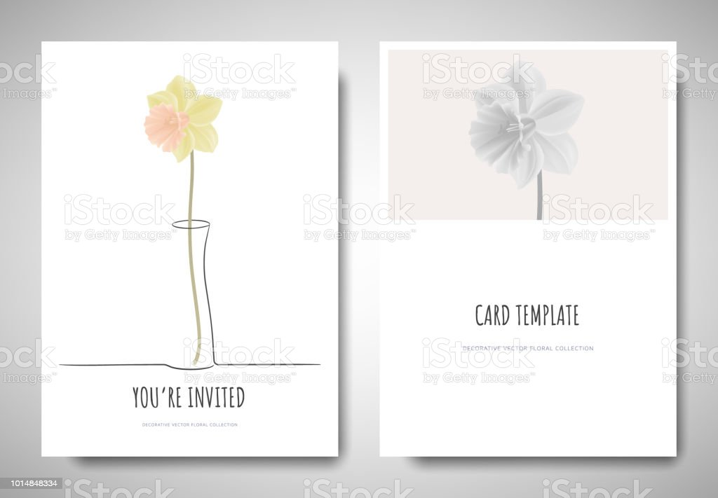 minimalist greetinginvitation card template design pastel yellow