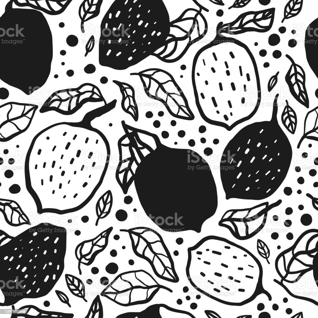minimalist lemon fruit seamless pattern summer tropical wallpaper vector id1097855948