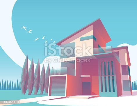 istock minimalist modern house illustration 1 906648110