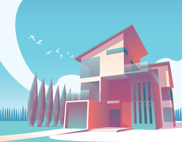 . Best Modern House Illustrations  Royalty Free Vector Graphics   Clip