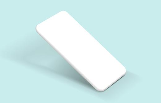 Minimalist modern white clay mockup smartphones.