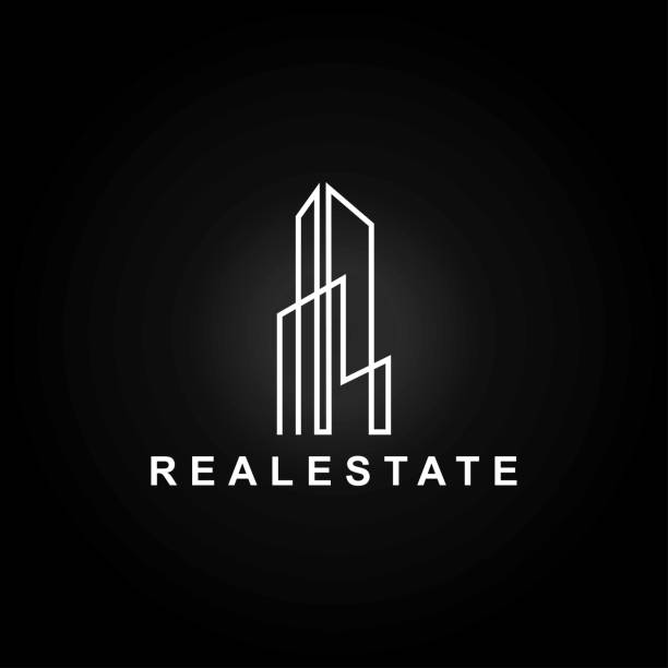 illustrazioni stock, clip art, cartoni animati e icone di tendenza di minimalist real estate - real life