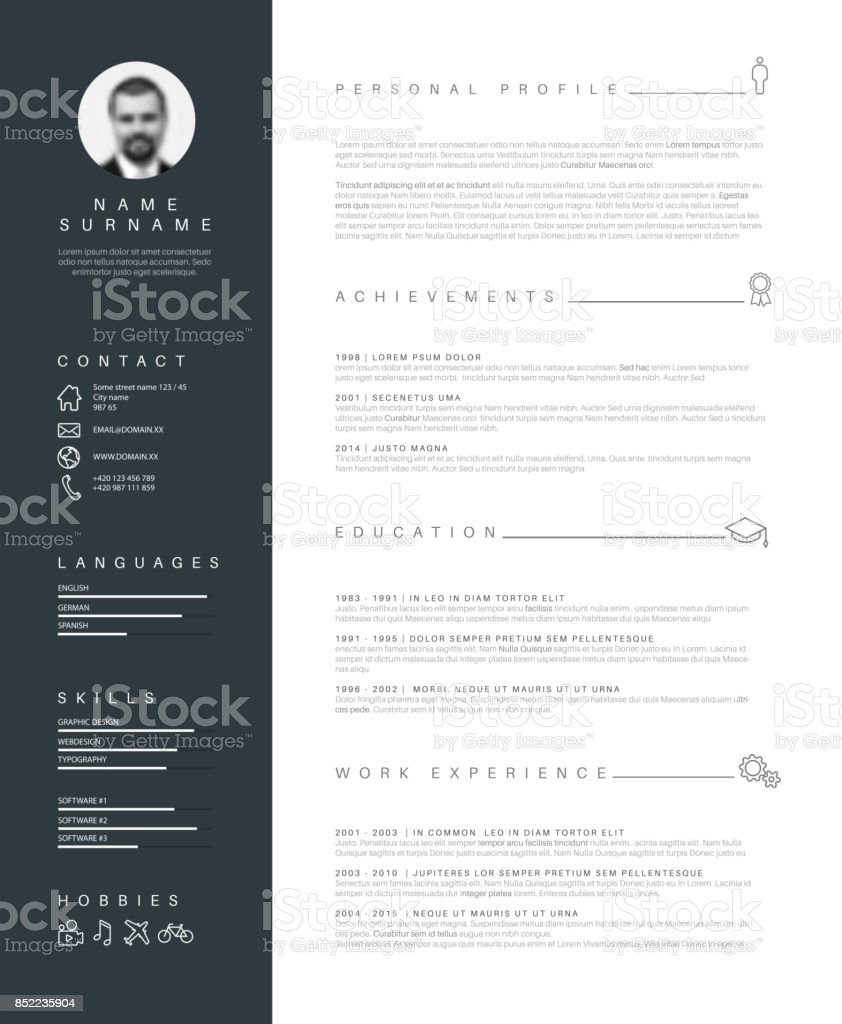 Royalty Free Resume Templates Clip Art Vector Images