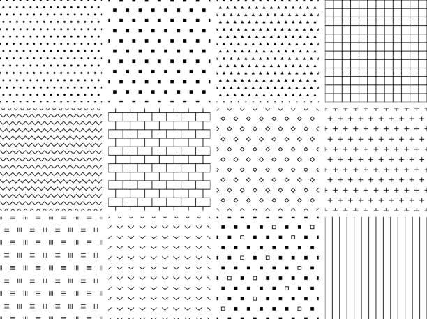 Minimalist Seamless Patterns vector art illustration