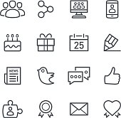 Minimalist social media icons in a blank background