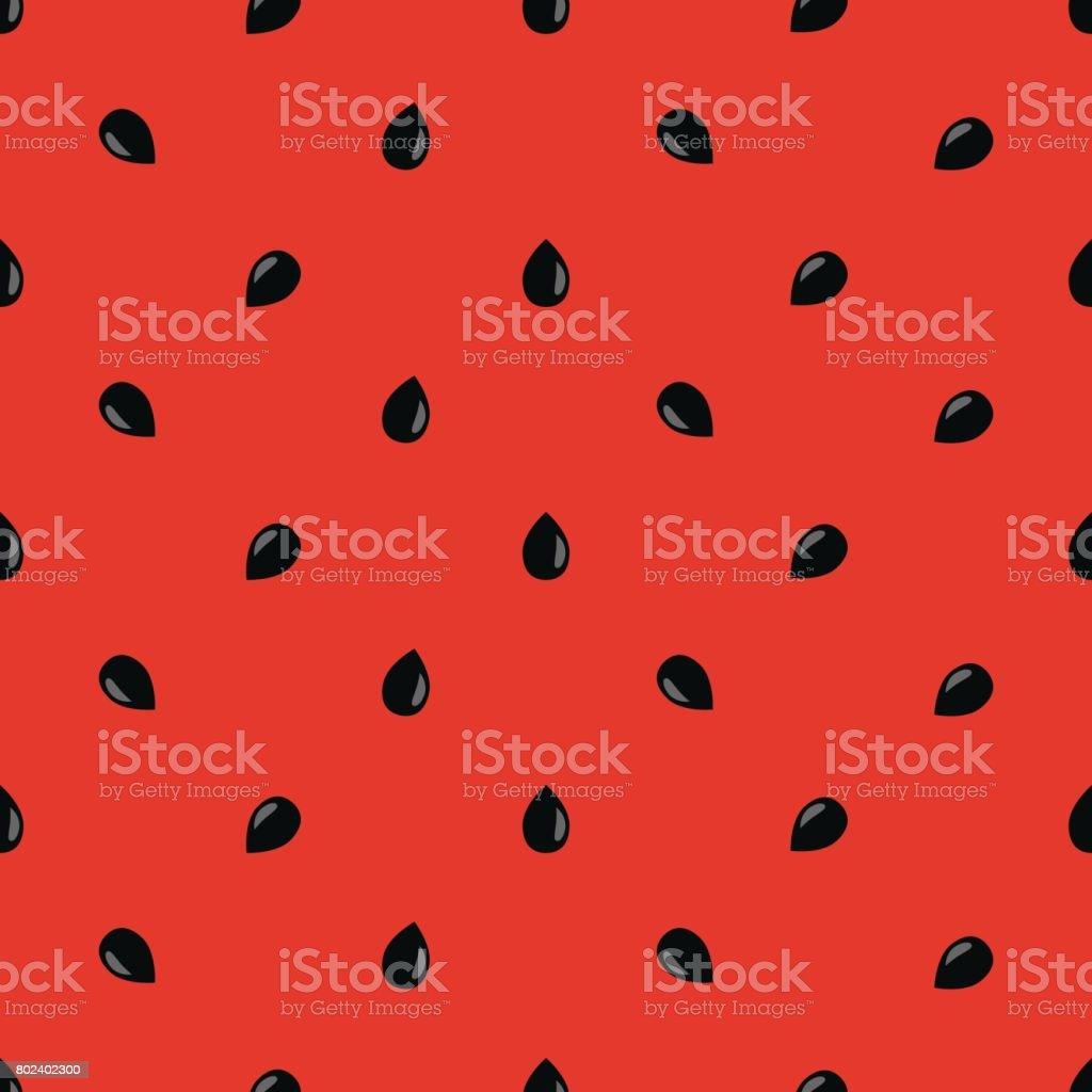 Minimalist watermelon high quality seamless pattern vector art illustration