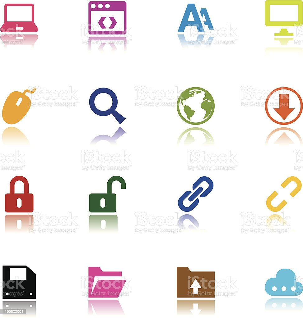 Minimalist Web Icons royalty-free stock vector art