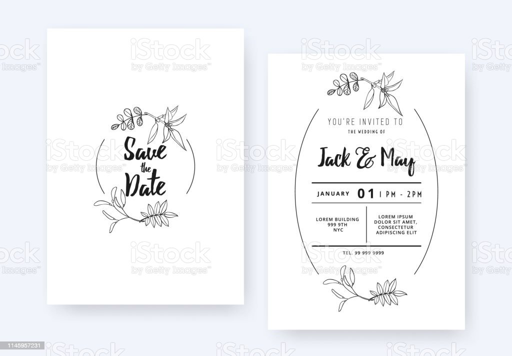 Ilustración De Diseño De Plantilla De Tarjeta De Invitación