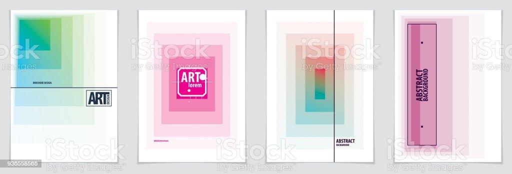 ilustración de diseños de brochure portada minimalista patrones