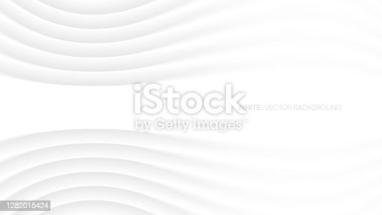 istock Minimalistic Elegant White Abstract Background 3D Vector 1282015424