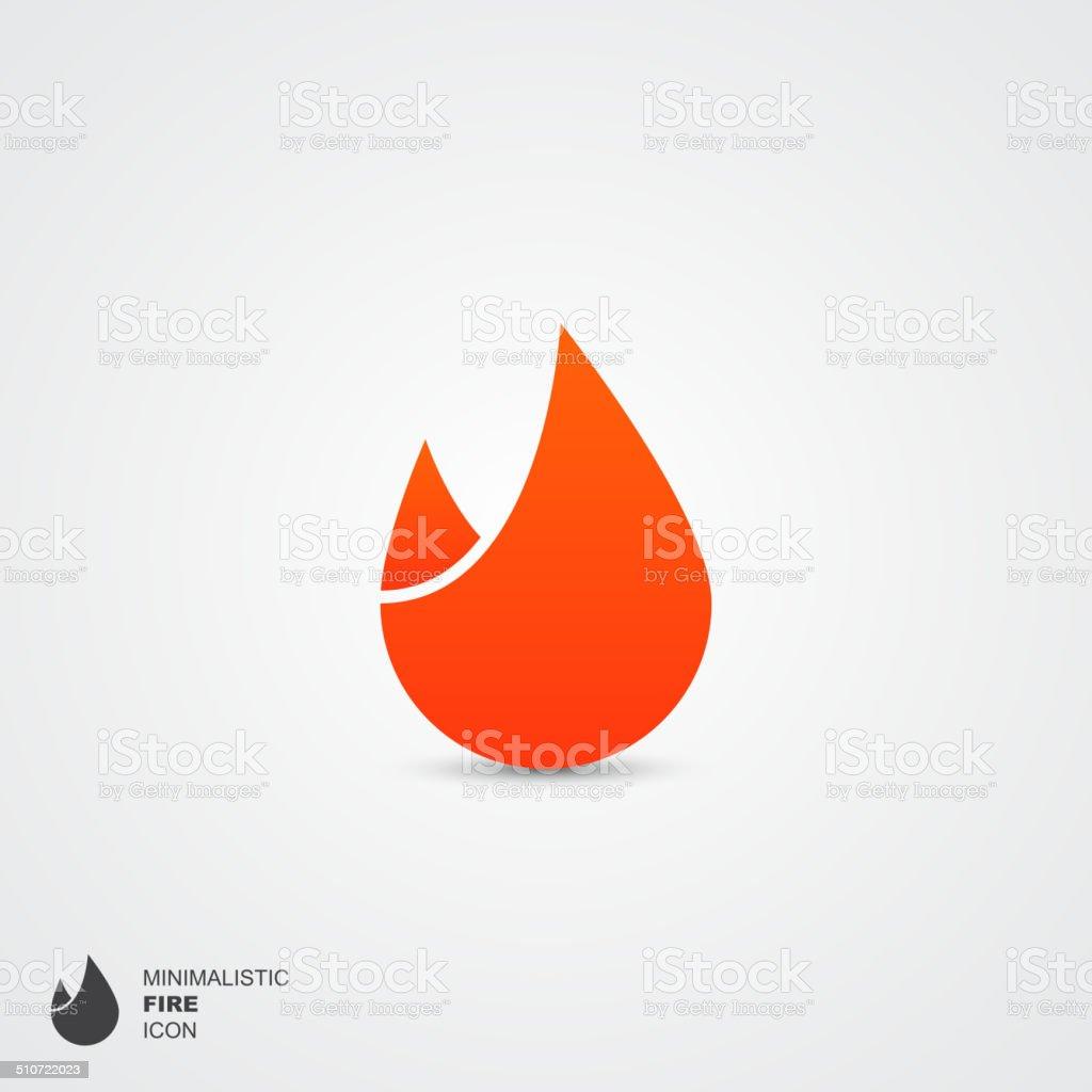 Minimalistic fire icon, vector illustration vector art illustration