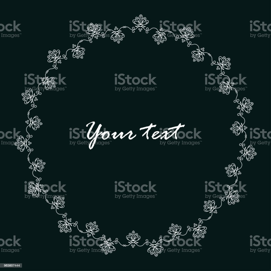 minimalistic flower frame - Royalty-free Art stock vector